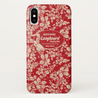 Coque iPhone X Club surfant le logo de Longboard et Hawaïen de