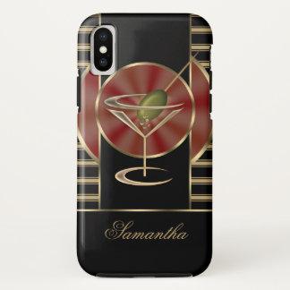 Coque iPhone X Cocktail mignon de Martini personnalisé