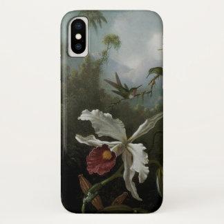 Coque iPhone X Colibris et orchidée blanche par Martin J. Heade