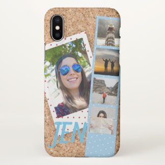 Coque iPhone X Collage de photo des souvenirs de voyage sur