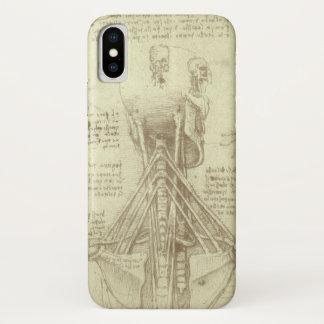 Coque iPhone X Colonne vertébrale d'anatomie humaine par Leonardo