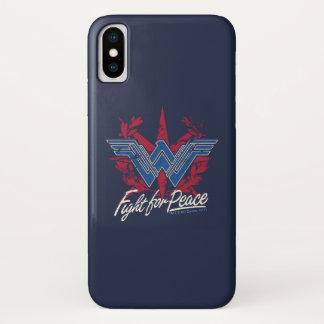 Coque iPhone X Combat de femme de merveille pour le symbole de