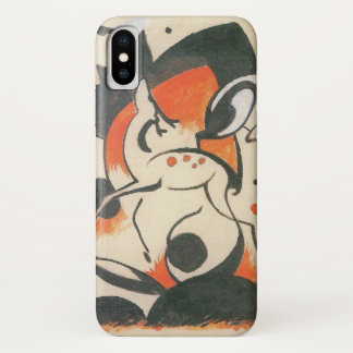 Coque iPhone X Composition avec deux cerfs communs par Franz Marc