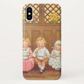 Coque iPhone X Comptine vintage des enfants chauds de gruau de