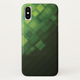Coque iPhone X Conception abstraite verte de technologie