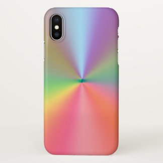 Coque iPhone X conception de couleurs d'arc-en-ciel