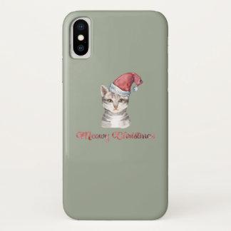 Coque iPhone X Conception de Noël de Meowy pour des amoureux de