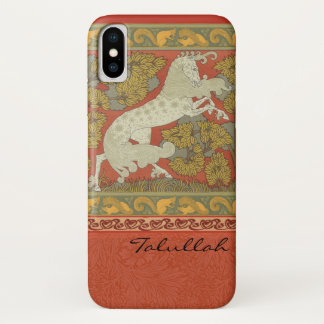 Coque iPhone X Conception médiévale de chevaux