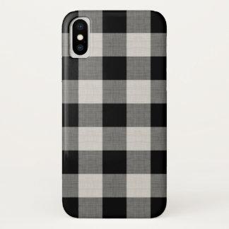 Coque iPhone X Contrôle de Buffalo noir de ferme