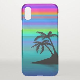 Coque iPhone X Coucher du soleil tropical d'île