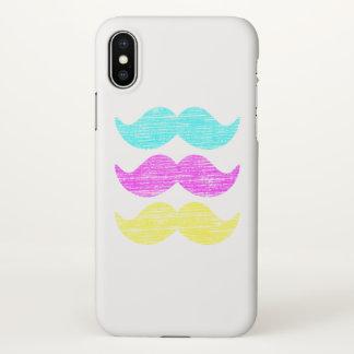Coque iPhone X Couleurs de moustache de pilosité faciale