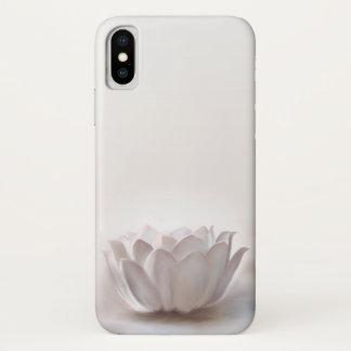 Coque iPhone X Couverture 5 blancs de Lotus Iphone