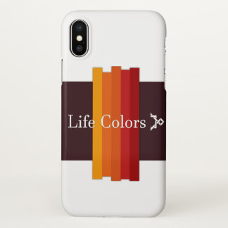 Coque iPhone X couverture de couleurs de la vie de l'iPhone X