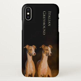 Coque iPhone X Couverture de l'iPhone X de lévrier italien