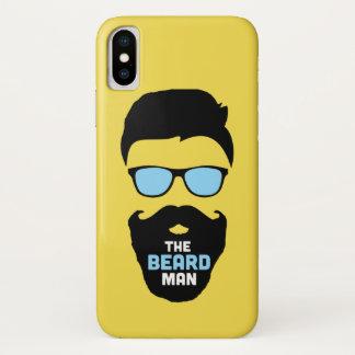 Coque iPhone X Couverture du cas des hommes de barbe