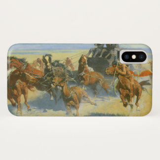 Coque iPhone X Cowboy vintage, avalant le chef proche, Remington