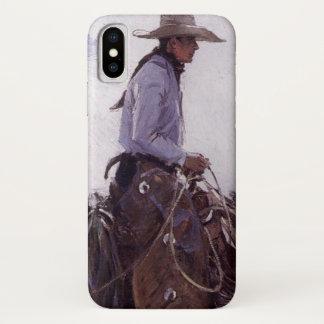 Coque iPhone X Cowboy vintage avec son troupeau de bétail par