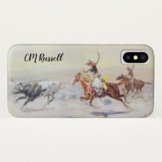 Coque iPhone X Cowboys de la triangle de barre par cm Russell
