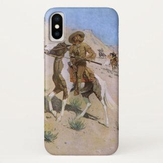 Coque iPhone X Cowboys militaires vintages, le scout par