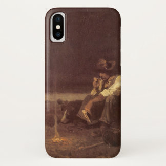 Coque iPhone X Cowboys occidentaux vintages, berger de plaines