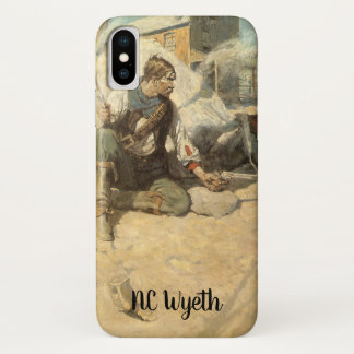 Coque iPhone X Cowboys occidentaux vintages, Hopalong par OR
