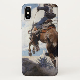 Coque iPhone X Cowboys occidentaux vintages, s'opposant par OR