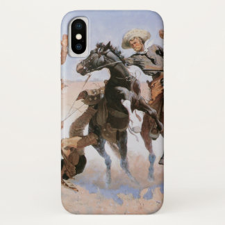 Coque iPhone X Cowboys vintages, aidant un camarade par Remington