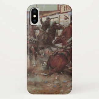 Coque iPhone X Cowboys vintages, dedans sans frapper par cm