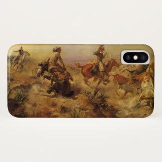 Coque iPhone X Cowboys vintages, lancés vers le bas par cm