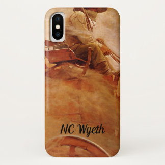 Coque iPhone X Cowboys vintages, le chariot de minerai par OR