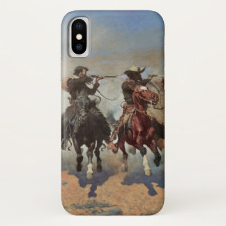 Coque iPhone X Cowboys vintages, un tiret pour le bois de