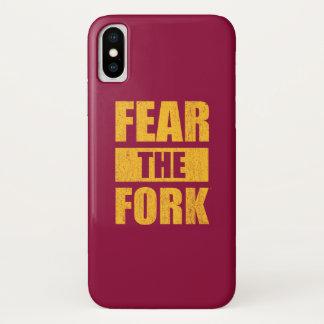 Coque iPhone X Crainte d'ASU la fourchette | affligé