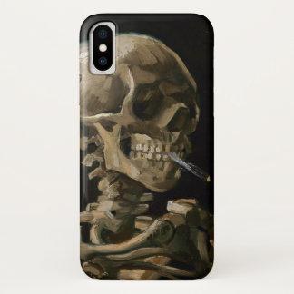 Coque iPhone X Crâne avec l'art brûlant de Vincent van Gogh de