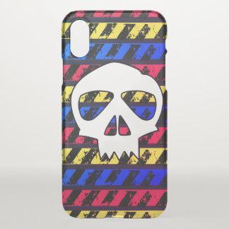 Coque iPhone X Crâne de danger