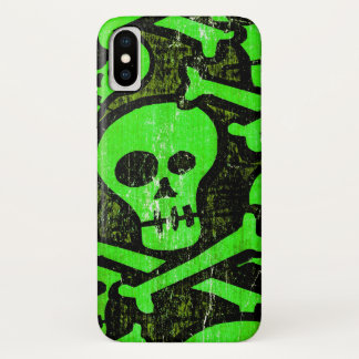 Coque iPhone X Crâne drôle