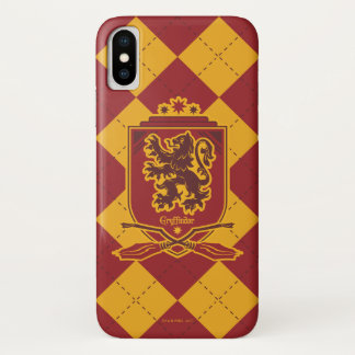Coque iPhone X Crête de Harry Potter | Gryffindor QUIDDITCH™