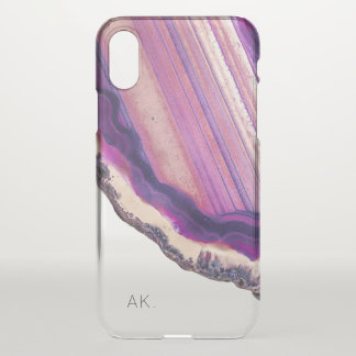 Coque iPhone X Cristal de pourpre de Geode d'agate