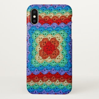 Coque iPhone X Crochet d'arc-en-ciel