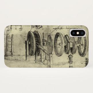 Coque iPhone X Croquis d'ingénierie d'une roue par Leonardo da