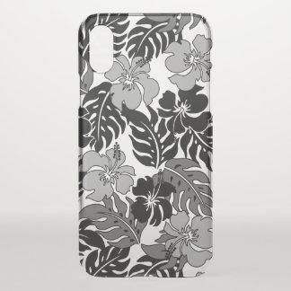 Coque iPhone X Cru hawaïen de ketmie de baie de Huakini floral