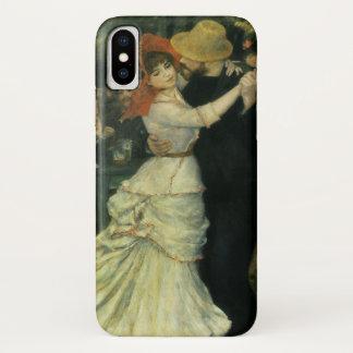 Coque iPhone X Danse chez Bougival par Pierre Renoir, art vintage