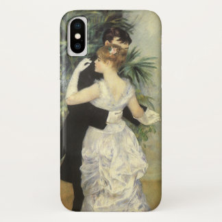 Coque iPhone X Danse de ville par Pierre Renoir, beaux-arts