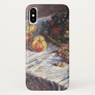 Coque iPhone X De Claude Monet toujours la vie avec des pommes et