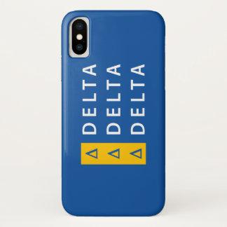 Coque iPhone X Delta   de delta de delta empilé