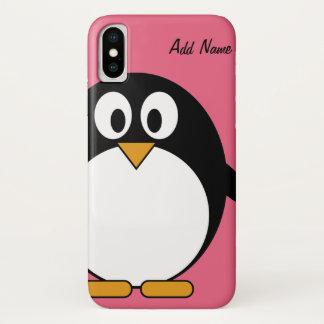 Coque iPhone X Dessin mignon de Kawaii de pingouin de bande