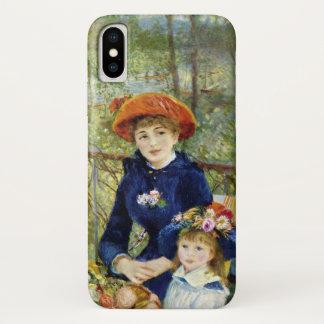 Coque iPhone X Deux soeurs (sur la terrasse) par Pierre Renoir