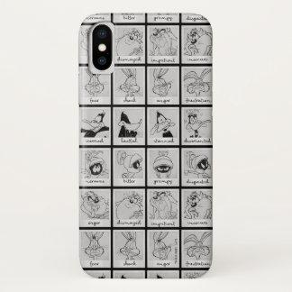 Coque iPhone X Diagramme LOONEY d'émotion de caractère de TUNES™