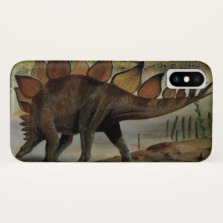Coque iPhone X Dinosaures vintages, Stegosaurus, queue avec des