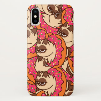 Coque iPhone X Donuts Cats pink