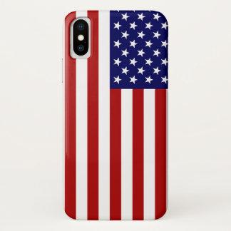 Coque iPhone X Drapeau américain Etats-Unis Amérique patriotique